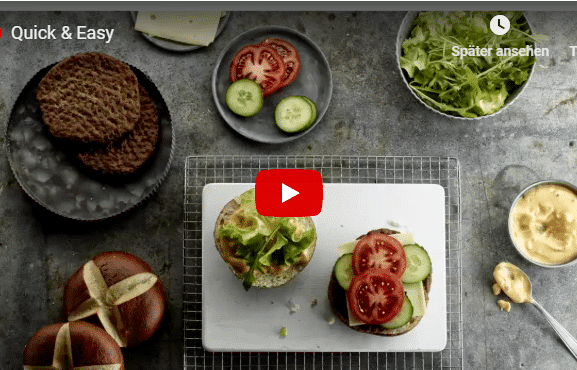 Burger Sauce Patty Laugenbrötchen Salomon