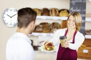 Bäckerei verkauf to go kaffee sanwich