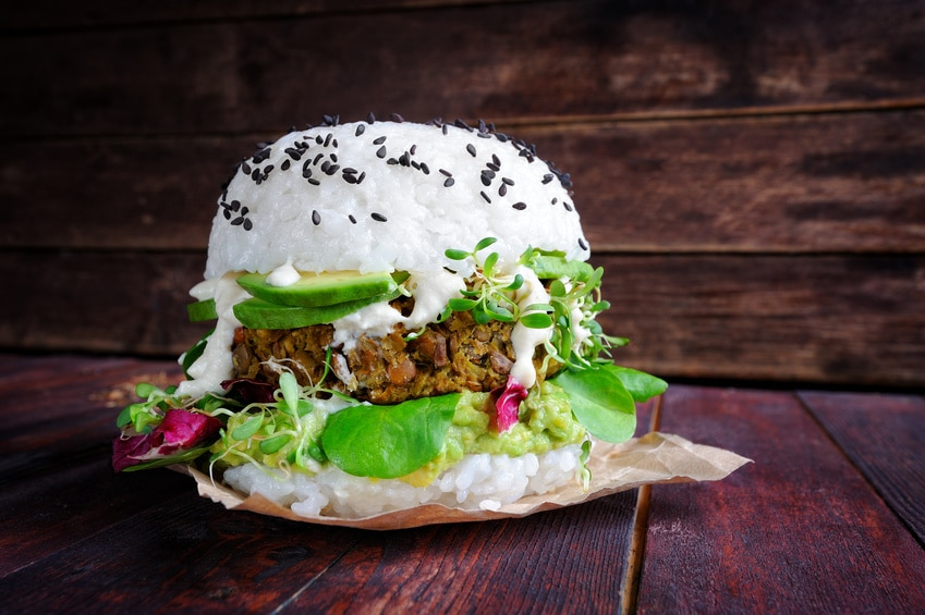 Sushi Burger Hybrid Food Vegan Vegetarisch