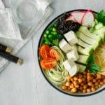 Vegan Bowl Avocado Kichererbsen