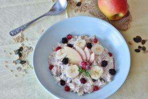 Haferflocken Frühstück obst Apfel Banane