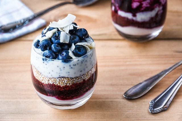 Chia Bowl Pudding Blaubeeren