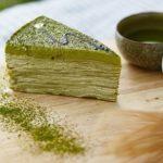 Matcha Torte grün Pulver