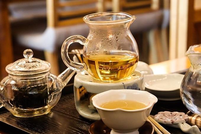 Tee Grün Schwarz Kanne Tasse