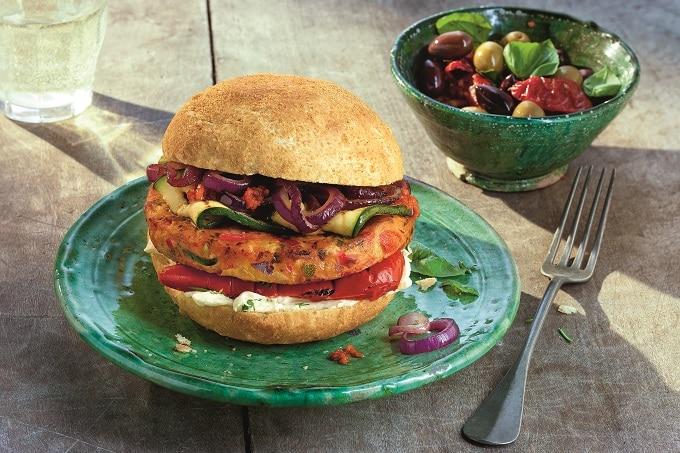 Burger Mediterran Vegetarisch Salomon