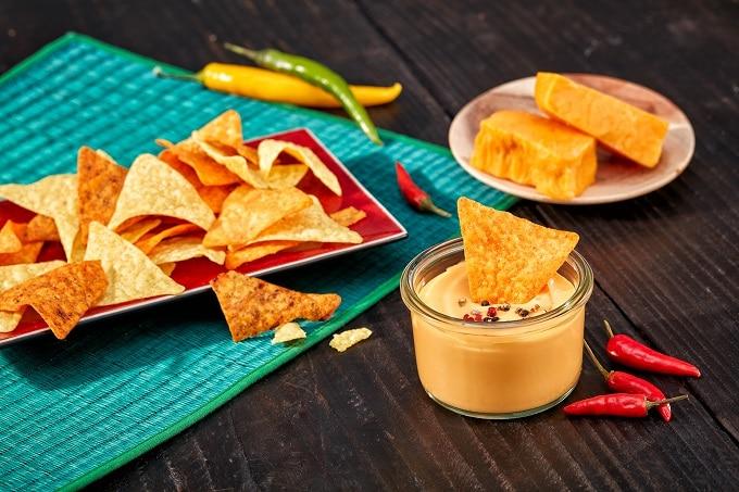 Nachos Käsesauce Cheese Chili Dairygold