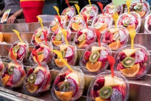 Obst To Go Kiwi Drachenfrucht Gabel
