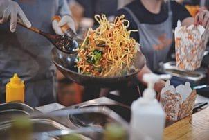 Street Food Nudeln Asia Pfanne
