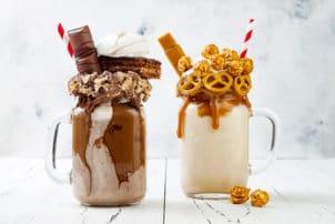 Milchshake extreme Salzbrezel Schokolade Bueno