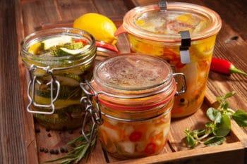 Fermentiert Gemüse Glas eingelegt