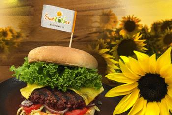 Burger Sonnenblumenkerne pflanzlich Sonnenblume vegan masande sunwower