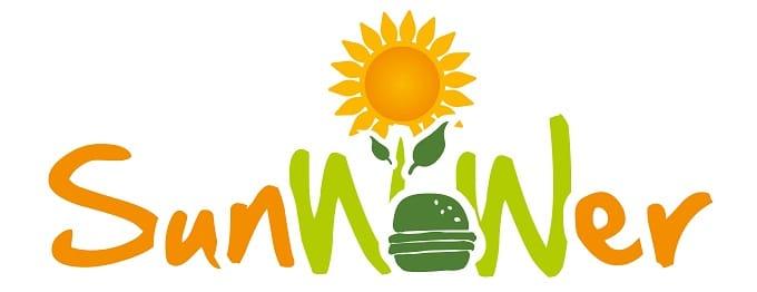 Sunwower Burger Logo Sonnenblumen kerne