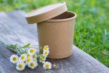 Verpackung Rausch Becher nachhaltig Gänseblümchen rausch