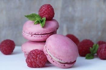 Macarons rosa Himbeere Minze