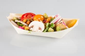 Verpackung Palmblatt biologisch umweltfreundlich nachhaltig salat