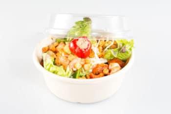Verpackung Bagasse Schüssel Salat Deckel