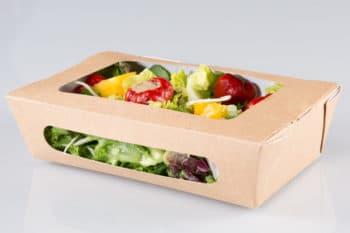 Verpackung Karton Sichtfenster Salat