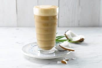 Kaffee Kokosnussmilch Latte Alpro