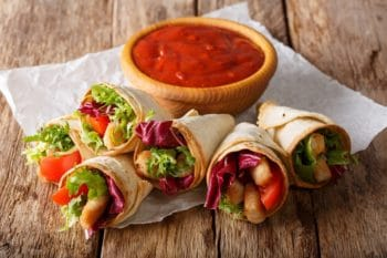 Tortilla Sauce Mini Fingerfood Salsa