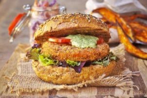 Burger Vegetarisch Southern Style Patty Fleischersatz Bestcon Gastro