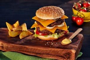 Burger Cheese Cheddar Käsesauce