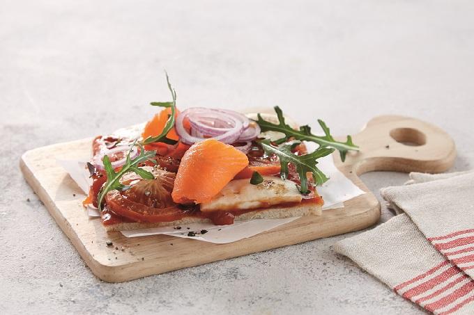 Pizza Lachs Snack Homann