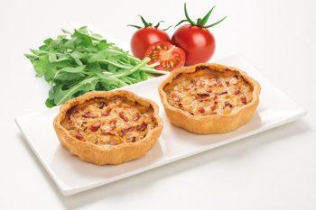 Quiche Beilage Salat Tomaten mini Maitre Pierre Löwenzahn