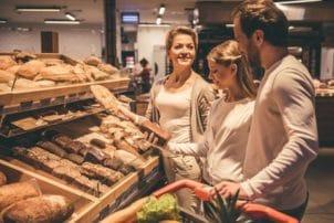 Backwaren Brot Supermarkt Familie Auswahl