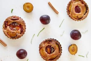 Muffin Pflaume Herbst süß gebäck Backwaren
