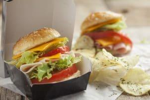 Burger Box Kartoffelchips Crisps Verpackung