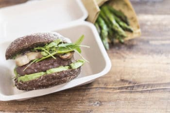 Burger nachhaltige Verpackung Bagasse Box