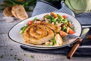 vegane Bratwurstschnecke Bratwurst gemüse bestcon quorn