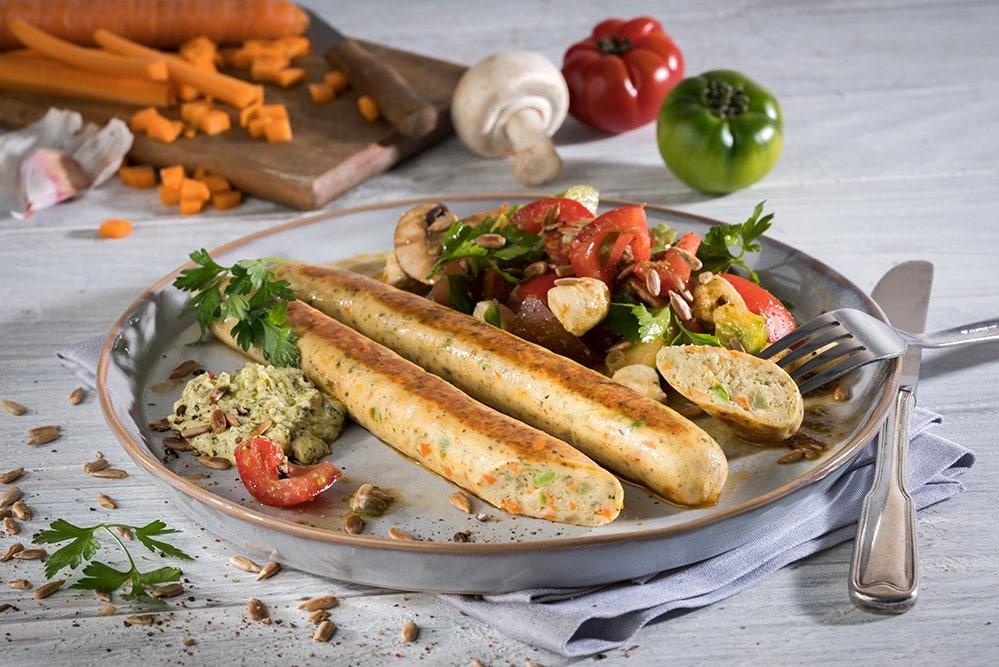 vegane Bratwurst Gemüse bestcon quorn