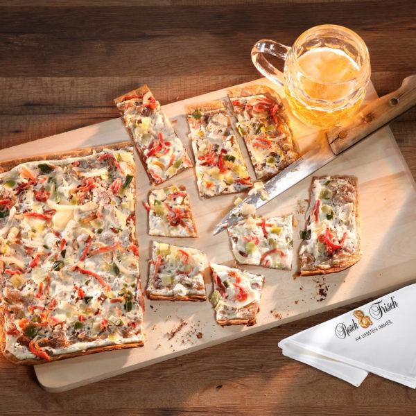 Flammkuchen-Paprika-Schinken-Resch und Frisch | snackconnection