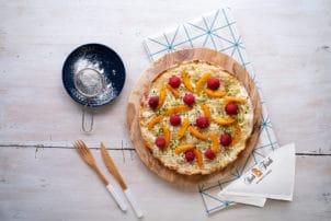 Flammkuchen mit Himbeeren, Mariellen Resch und Frisch | snackconnection
