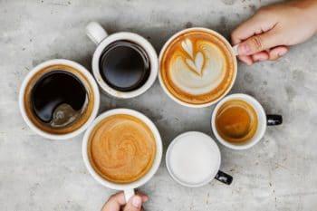 Kaffee Spezialitäten Tassen