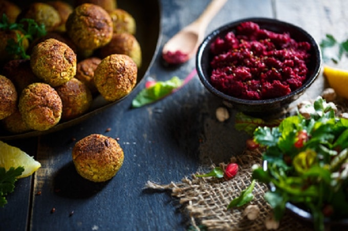 Falafel Rote Beete Hummus Vegan Vegetarisch