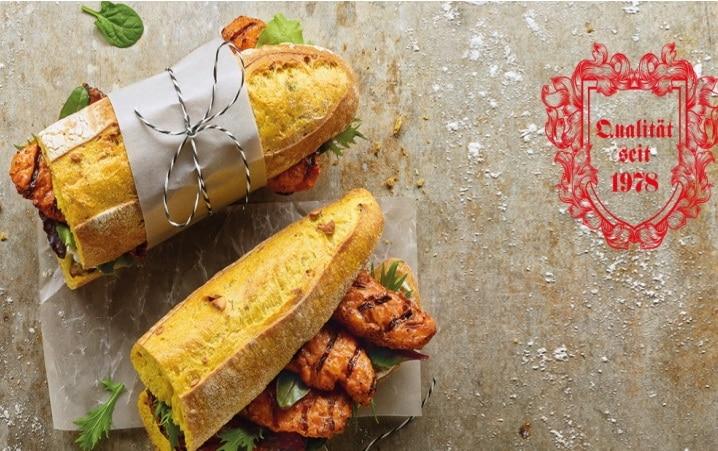 Salomon Snacks Baguette mit gegrilltem Hähnchen