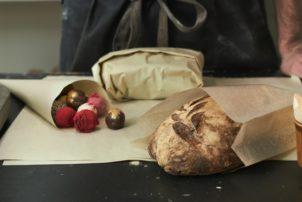 Duni Graspapierverpackung Brot Sandwich
