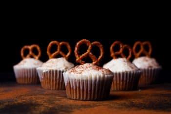 Cupcake mit Brezel Topping