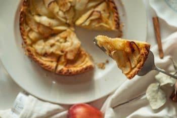 Apfel Quichekuchen mit Zimt