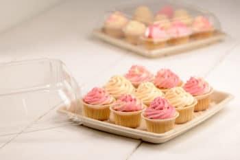 Rausch Servierplatte mit Domdeckel und Muffins
