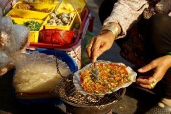 Reispapier-Pizza aus Vietnam