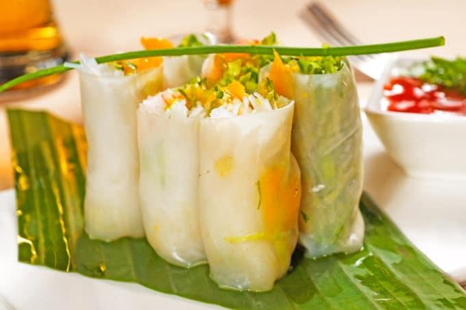Fresh Summer Rolls Frühlingsrollen aus Vietnam