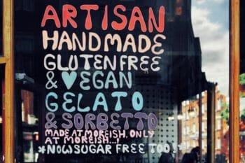 Fenster beschrieben Glutenfrei Vegan handgemacht