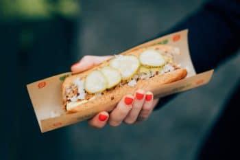 Hot Dog Dänemark pulled Chicken