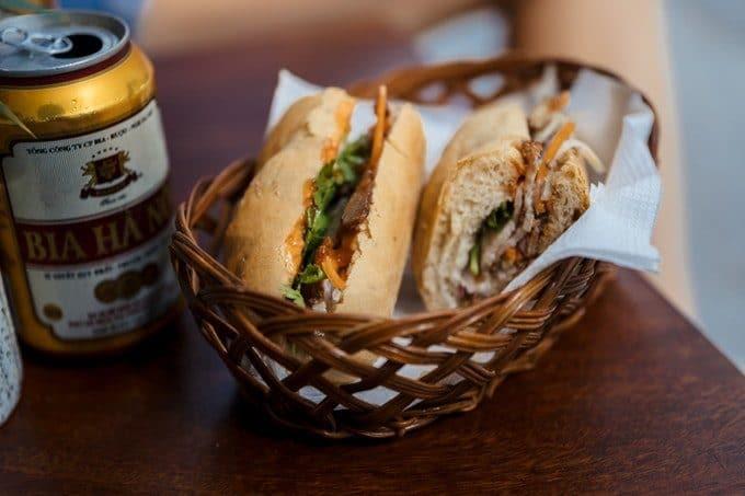 Banh mi Street Food Sandwich Vietnam