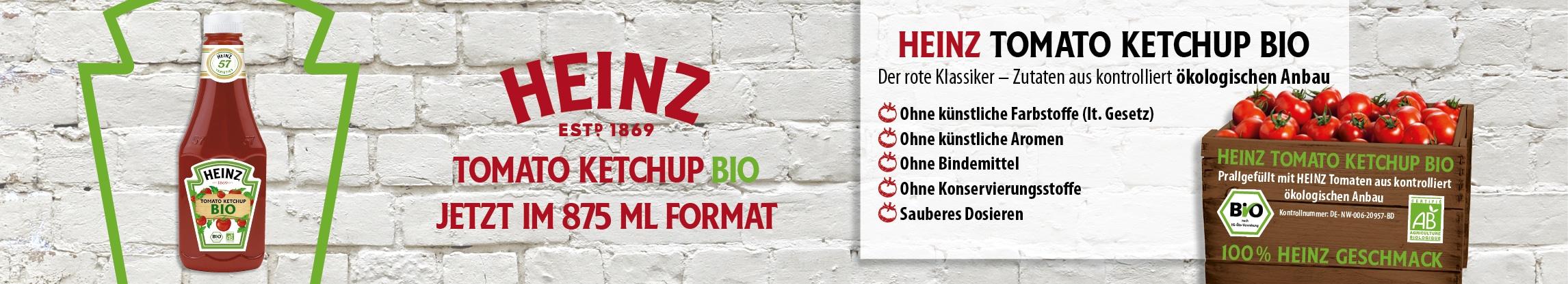 Banner Kraft Heinz Bio Ketchup