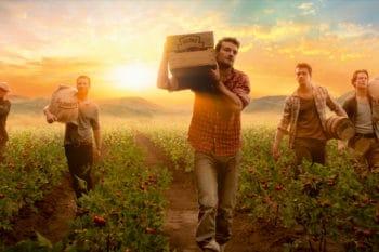 Heinz Tomatenanbau Männer tragen Kisten