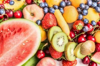 Obstsorten Wassermelone Kiwi Erdbeere
